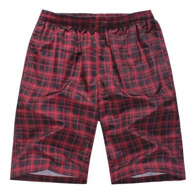 Casual Plaid Men Shorts Summer Swimwear Plus Size Quick Dry Mens Swimwear