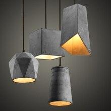 2016 Romantic Cement Pendant Lights for Restaurant Diving Room Tbale Lamps E27 Lampbase Pendant Lamp Art Home Lighting lights