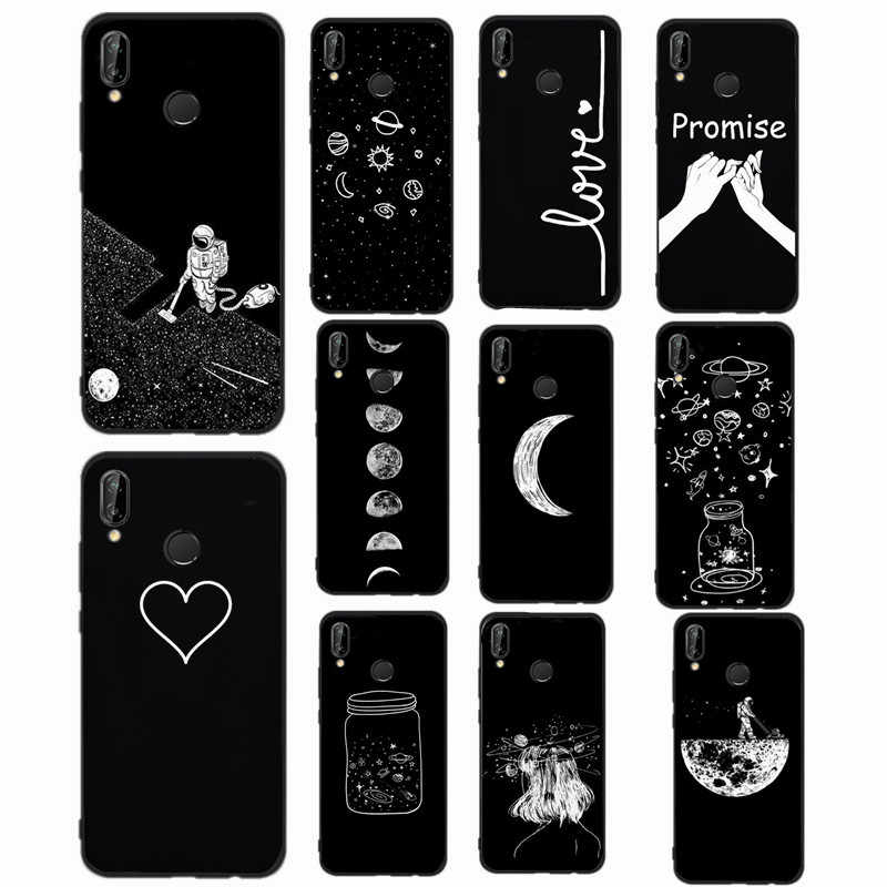 Black Case For Huawei P10 Lite Case Cover Silicone for huawei P Smart P20 Mate 10 P9 P8 Lite 2017 P9 Lite Mini Cover Phone bag