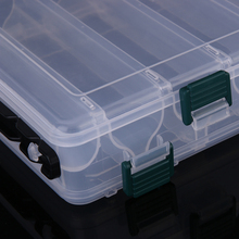 Transparent Double Sided 10 Compartment Fishing Box Accessories Storage Box Tackle Lures Bait Shrimp Boxes Fishing Tackle Pesca
