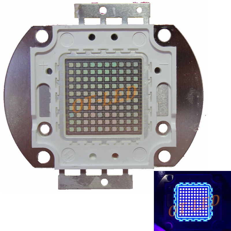 100W UV Purple LED Ultraviolet Bulbs Lamp Chips High Power UV led 365nm 395nm UV led ultraviolet lamp light DIY htton uv purple led integrated chips 365nm 375nm 385nm 395nm 405nm high power cob ultraviolet lights 3 5 10 20 30 50 100 watt