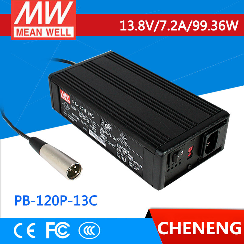 цена на MEAN WELL original PB-120P-13C 13.8V 7.2A meanwell PB-120P 13.8V 99.36W Single Output Power Supply or Battery Charger