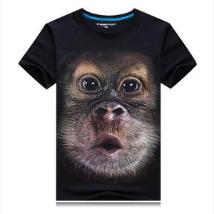 39ebc5bc0356d LOIEJIAOHUI new explosion models 3D stereoscopic short-sleeved T-shirt men s  domineering personality T-shirt - big gorilla face