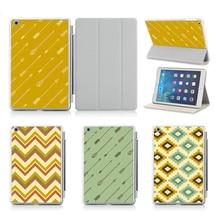 Customized Printed Flip Exhausting Plastic Case Design AZTEC Geometric Stripe Pill Defend Case For iPad Air 2 Case Cowl