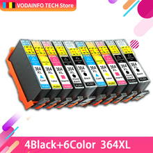 10 шт Принтер чернильный картридж 364XL 364 XL для hp Photosmart 5510 5515 6510 7520 6520 5520 5524 B010a B109a B209a Deskjet 3070A