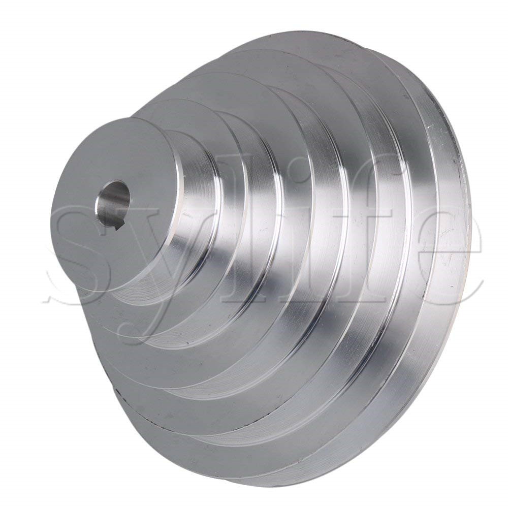 Image 2 - 5 Step A Type V Belt Pagoda Pulley Belt Outter Dia 54 150mm(Hole Dia 14mm,16mm,18mm,19mm,20mm,22mm,24mm,25mm,28mm)-in Pulleys from Home Improvement