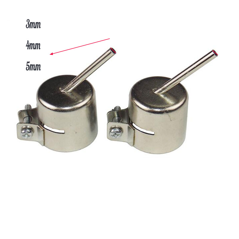 3/4/5mm Heat Gun Nozzle Hot Air For 850 858 Rework Station Soldering Welding Tool 45 Angle Nozzle 1pc