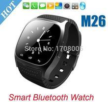 Smartwatch bluetooth smart watch m26 mit led-anzeige/dial/alarm/musik-player/schrittzähler für android ios htc mobile telefon