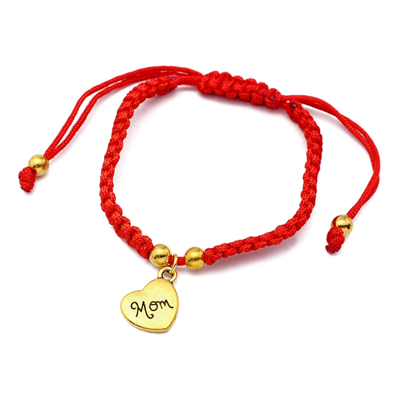Bracelets & Bangles Disciplined I Love You Mom Red Thread Bracelets Lucky Jewelry For Mum Charm Bracelets Mothers Day Gift Family Bless Bracelete Feminino 2019 Clients First Charm Bracelets