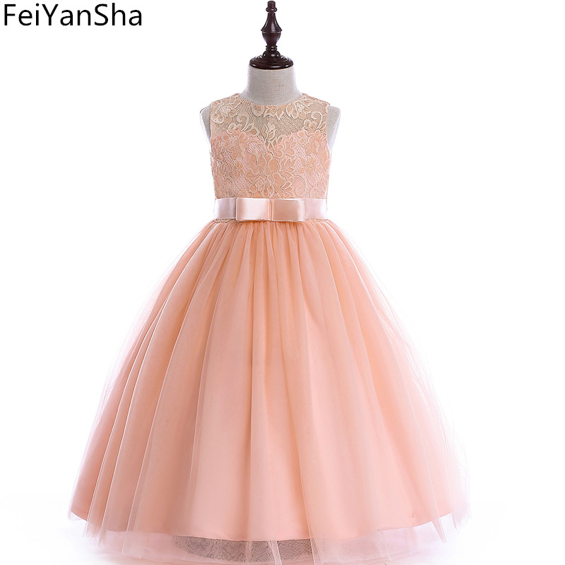FeiYanSha Summer Dress for Children Flower Girls Dress Party Wedding Dress Elegent Princess Vestidos цены