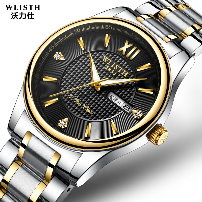 New calendar watch lovers quartz watches men's bracelets watches women waterproof watch top brand luxury couple clock Rose gold women watches rose gold 2018 brand luxury watch lovers couple wrist watches for men and women colck casual japanese movement new