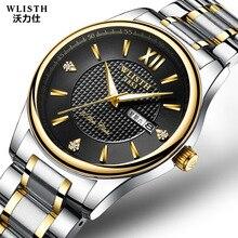 hot deal buy new calendar watch lovers quartz watches men's bracelets watches women waterproof watch top brand luxury couple clock rose gold