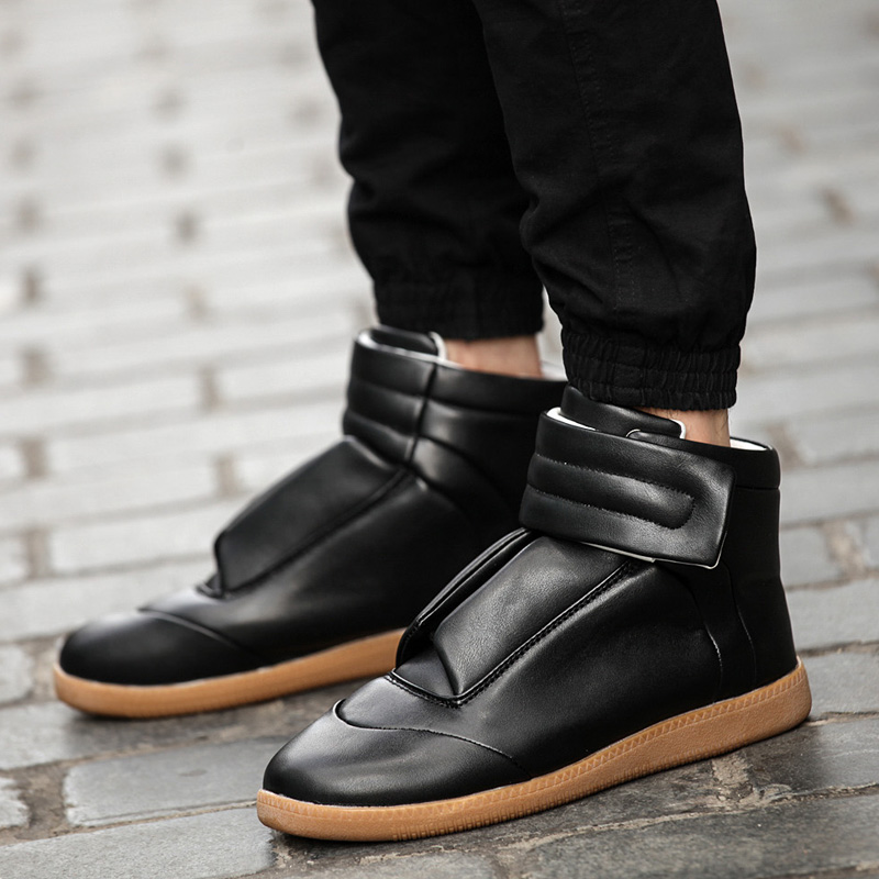 Sneakers for Men On Sale, Black, Leather, 2017, 7 Maison Martin Margiela