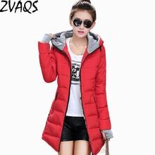 Новинка, зимняя куртка, пальто, тонкий женский пуховик, хлопковое пальто, средней длины, уплотненный пуховик, женская зимняя парка с капюшоном, для женщин, BL0185