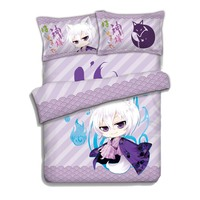 Japanese Anime Kamisama Hajimemashita Tomoe 4pcs Bed Linen Bed Sheets Duvet Cover Set
