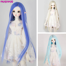 High Quality Synthetic Long Straight Doll Wigs for BJD/SD