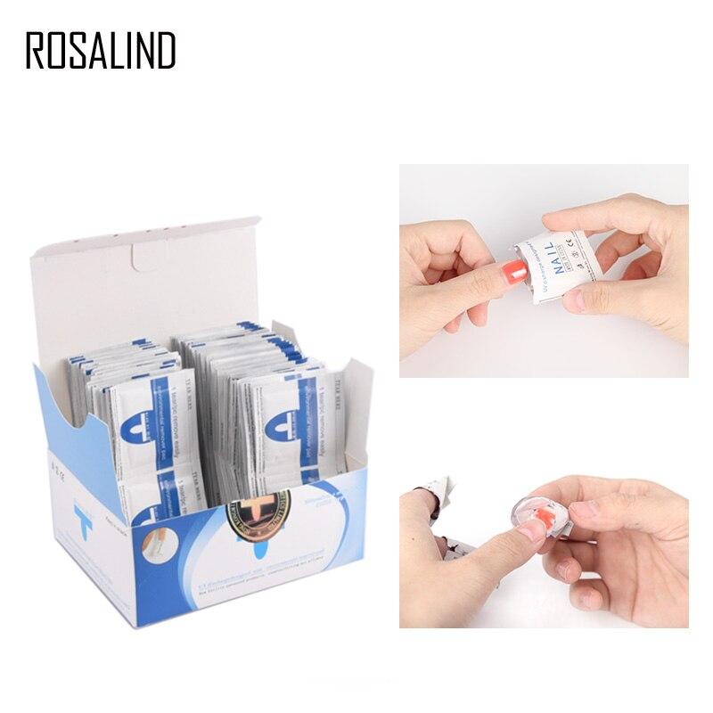 Rosalind 50 pçs/caixa remoção envolve toalhetes para remover gel verniz lint-livre toalhetes guardanapos manicure líquido de limpeza prego gel uv