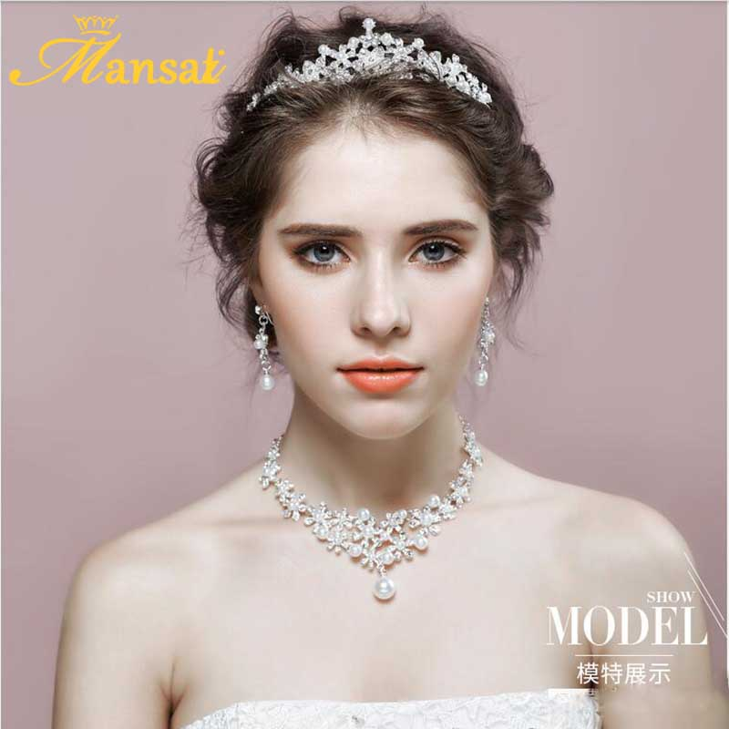 Aliexpress.com : Buy Elegant Imitation Pearl Tiara Bride