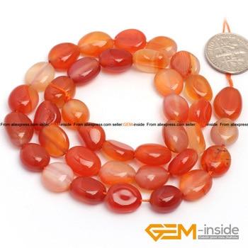 59e509a292bd 9x12mm patata forma perlas rojo carnelian natural carnelian ágata perlas  sueltas DIY para strand 15