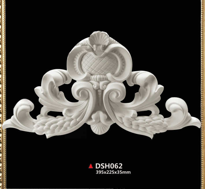 PU polyurethane fireplace part decoration European style ceiling decor doorframe portal decorating components