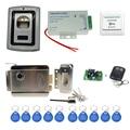 F007II completo de huellas dactilares de control de acceso + fuente de alimentación + cerradura magnética electrónica + botón exit + mandos + wireless control remoto