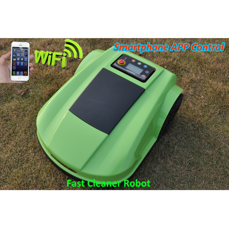 Green Color 4th Generation Lawn Mower Robot Grass Cutter S520 with Automatic Recharged,Schedule,Smartphone WIFI APP Control цена