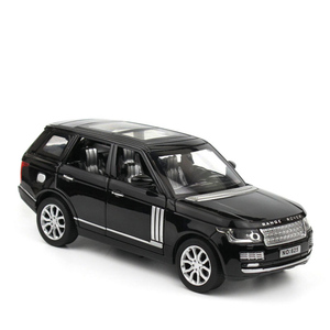 Image 4 - 1:32 Range Rover SUV Simulation Toy Car Model Alloy Pull Back Children Toys Collection Gift Off Road Vehicle Kids 6 open door