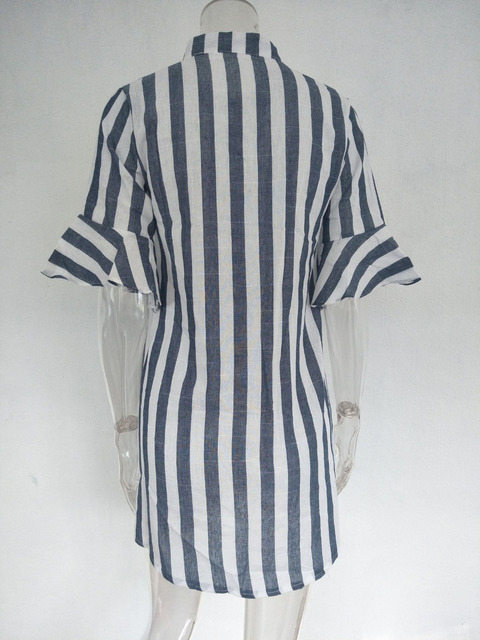 Half Sleeve Tops Long Blouse