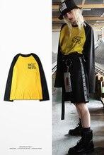 Autumn hip hop street T-shirt wholesale skateboard Hip Hop Long-Sleeve t shirts men long sleeve oversize design hold hand