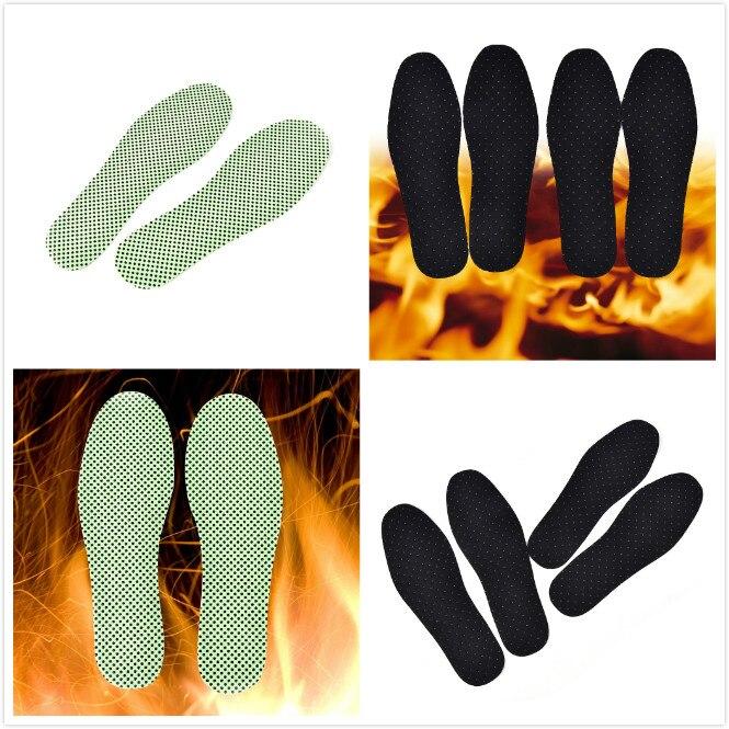 1Pair Winter Soles Natural Tourmaline Self-heating Insoles For Footwear Heated Self-heating Insoles Warm Reflexology Insoles