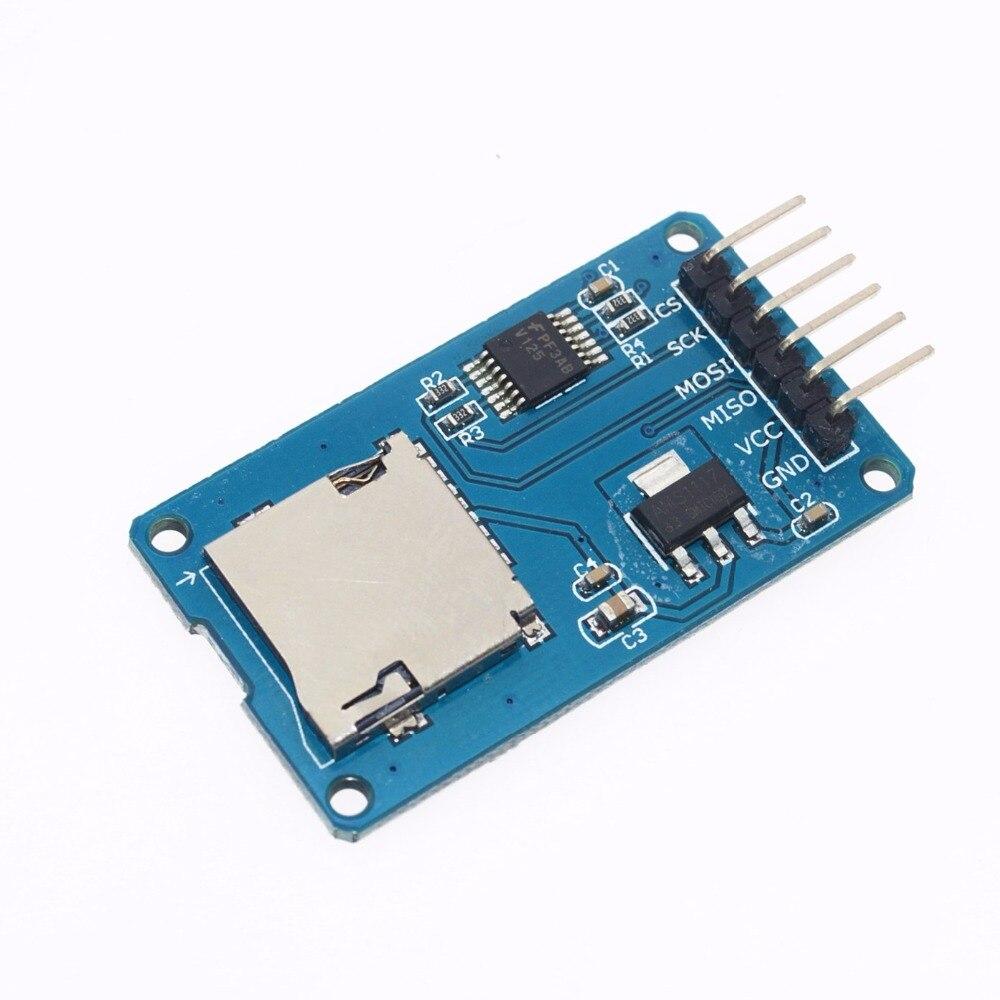 1 шт. Micro SD для хранения Плата расширения Mciro SD карты памяти TF щит модуль SPI для Arduino поощрении