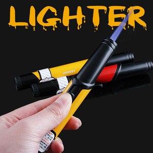 Image 1 - Spray Gun Jet Butane Lighter Metal Pen Torch Turbo 1300 C Fire Windproof Pipe Cigar Lighter Cigarette Accessories No Gas
