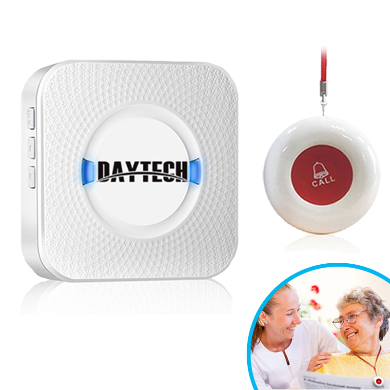 Wireless Home Security Alarm DIY Kit Emergency Help Elderly Help Patient Emergency Calling System Caregiver Alarm for old people singcall wireless calling system patient alarm system emergency sound and light alarm small caregiver receiver with two buttons