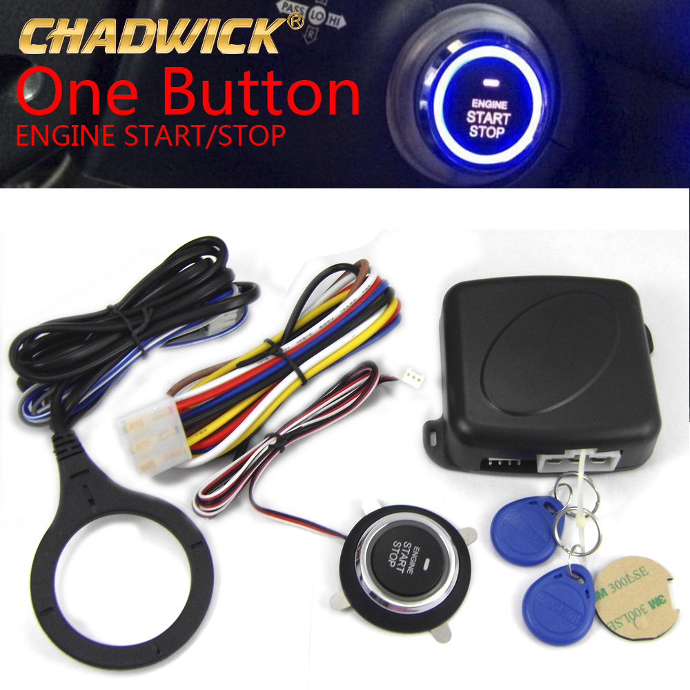 Universal Auto Car Alarm Engine Push Button Start Stop RFID Safe Lock Ignition Switch Keyless Entry immobilizer Chadwick nq9002