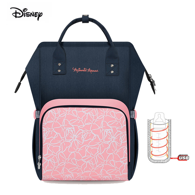 fdc06a0bc72 Disney mickey mouse waterproof large capacity mother bag for nappies babies  milk thermal insulation maternity diaper backpack