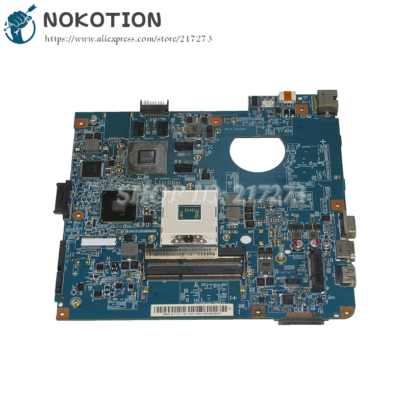 NOKOTION JE40-CP MB 48.4GY02.021 MBPV201002 MB.PV201.002 Laptop Motherboard For Acer Aspire 4741 Mainboard HM55 DDR3 GT330M nokotion laptop motherboard for acer aspire 5551 nv53 mbbl002001 mb bl002 001 mainboard tarjeta madre la 5912p mother board