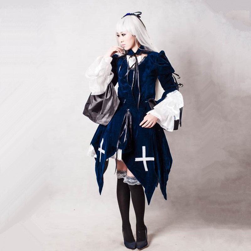 Suigintou cosplay costumes Japanese anime Rozen maiden clothing Halloween costumes Spot supply
