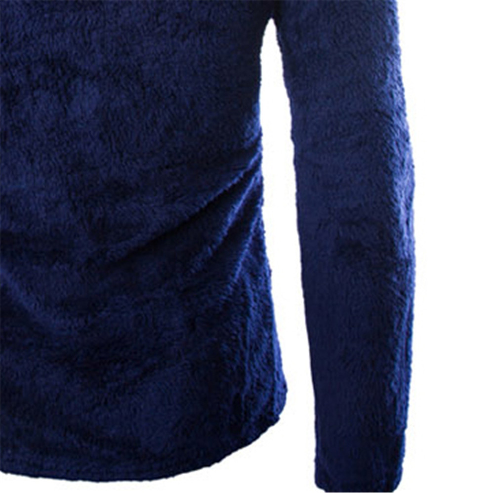34e48721e10 Navy Blue Sweater Men Top Fashion Warmer Comfortable Mens Sweaters Clothing  Fitness Hip Hop Streetwear Long Sleeve 2019 Sweater-in Pullovers from Men s  ...