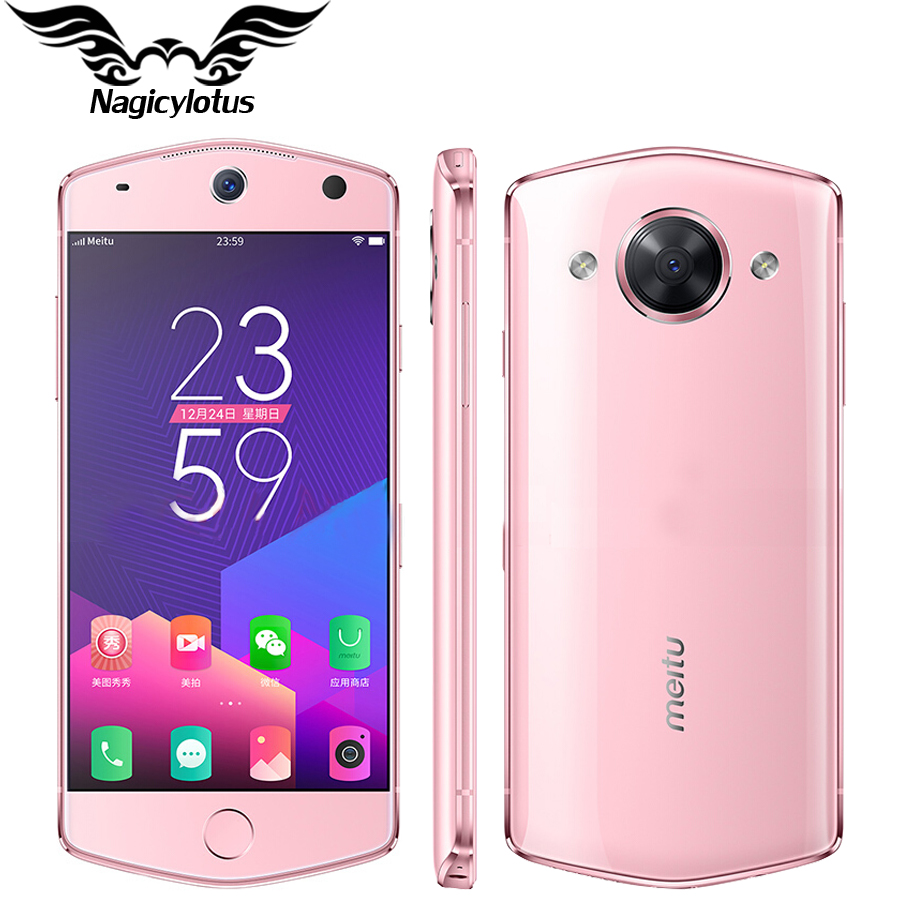 Original 5 2 inch Meitu M8 Mobile Phone 4G RAM 64GB ROM Android MT6797M Deca Core