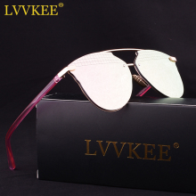 LVVKEE Luxury Cat Eye Sunglasses Ladies Vintage brand Designer pink Lattice Mirror Sun Glasses For Women shades oculos de sol