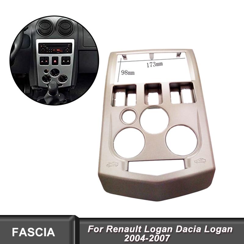2Din Fascia fit for Renault Logan Dacia Logan 2004 2007 fit for Renault dvd player Panel