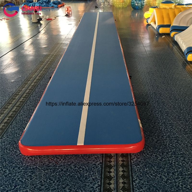 Promotion inflatable air track tumbling gymnastics high quality 8*2*0.2m floor home inflatable gym mat for taekwondo sport game inflatable zorb ball race track pvc go kart racing track for sporting party