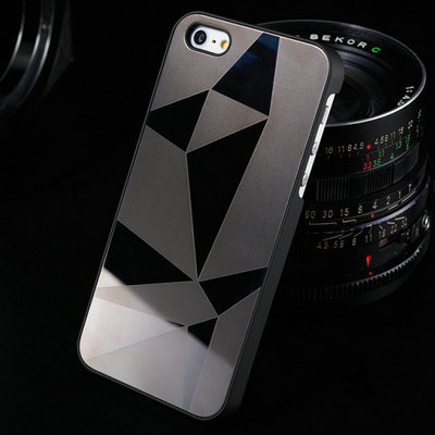 10 pcs/lot Mirror Aluminum case for iphone 5 5S Luxury New Hard back Cover for iphone 5g Bling Hybrid Aluminium Metal OYO