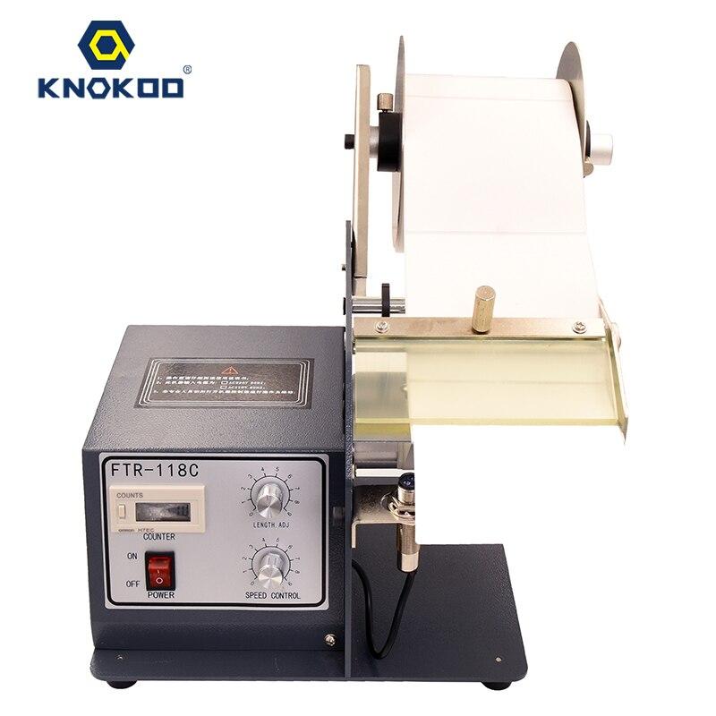 KNOKOO 118C dispensador rótulo com contador heavy-duty 5 rótulo degola máquina para a etiqueta largura-120 MILÍMETROS de comprimento 5-150 MILÍMETROS