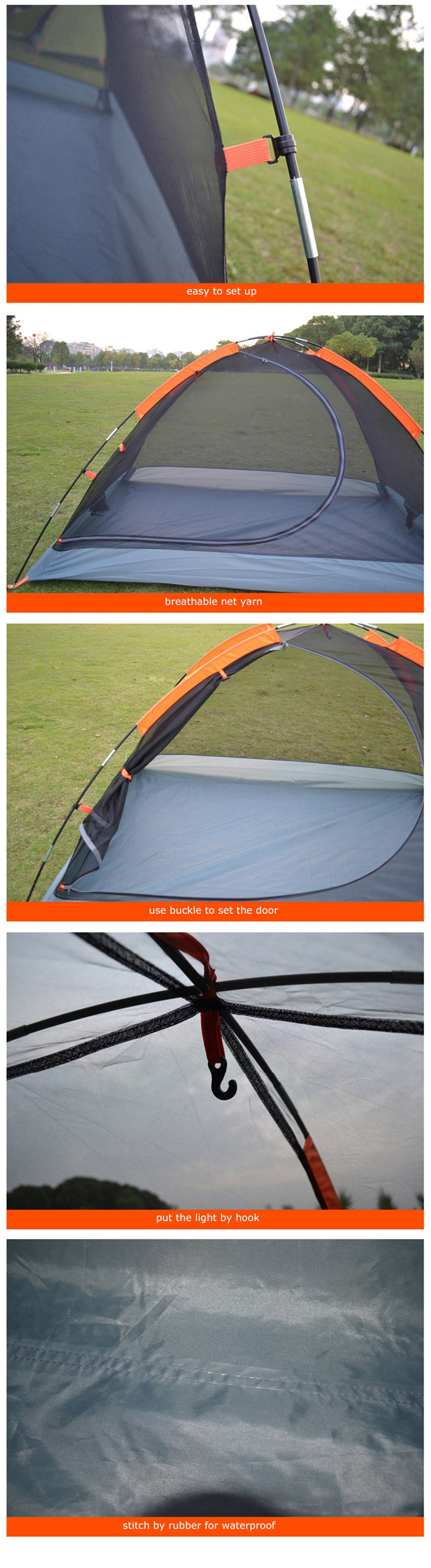 Desert&Fox Backpacking Tent, 2 Person Aluminum Pole Lightweight Camping Tent,Double Layer Portable Handbag for Hiking,Travelling