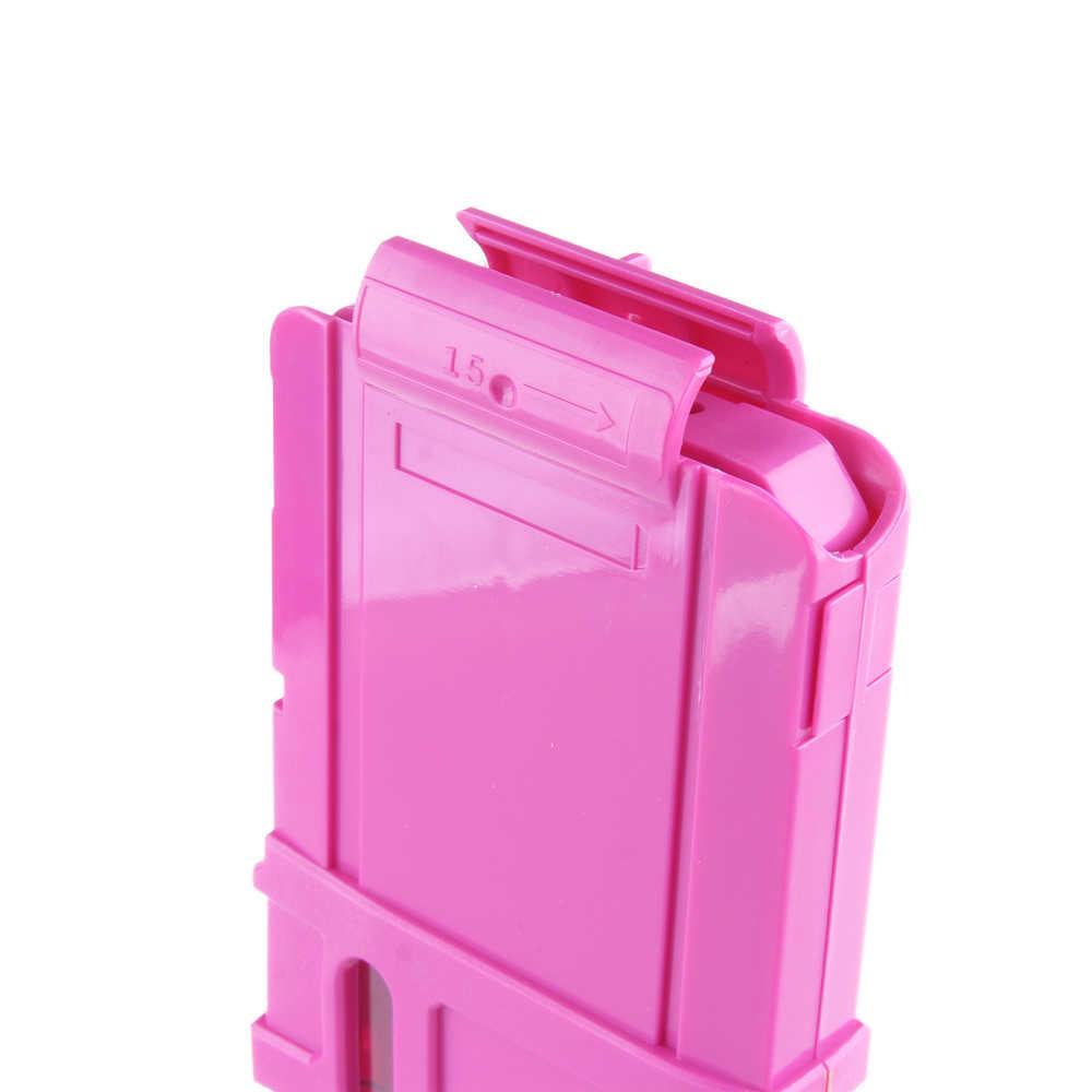 Worker 15 Дартс быстрая Перезагрузка клип журнал литьевая форма патронная обойма Замена пластиковых журналов игрушечный пистолет для Nerf N-Strike