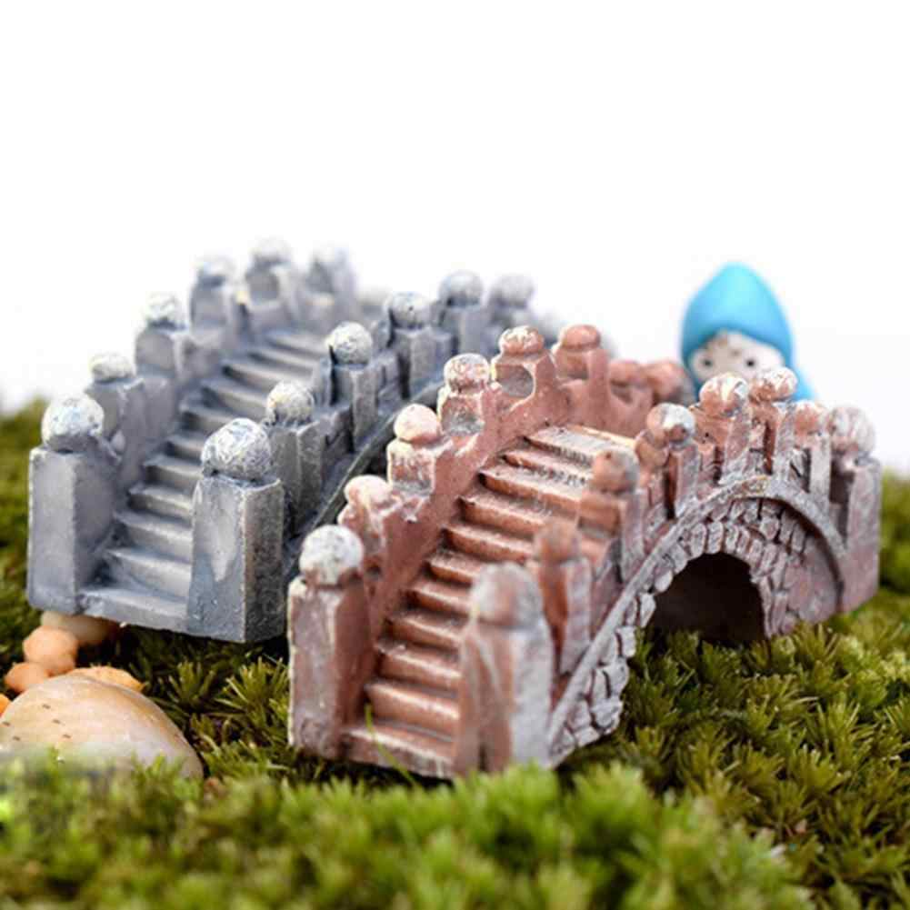 2 Pcs Retro Arch Bridge Fish Tank Aquarium Micro Landscape Miniature Ornaments