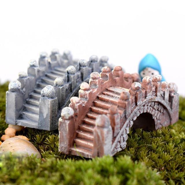 2 Pcs Retro Arch Bridge Fish Tank Aquarium Micro Landscape Miniature Ornaments