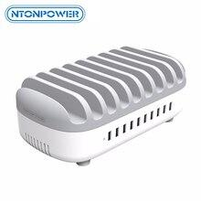 Ntonpower Desktop Multi Usb Opladen Station Dock Met Telefoon Houder Organizer 10 Poorten 2.4A Snel Opladen Voor Ipad/Iphone/Xiaomi
