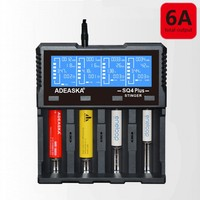 ADEASKA SQ4 PLUS Battery Charger LCD Display USB Rapid Intelligent Charger Li ion 18650 14500 16340 26650 AAA AA Battery Charger